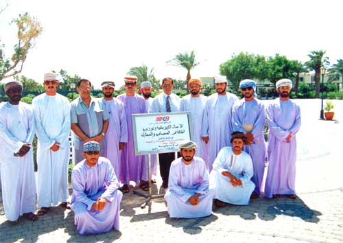 Omani delegates attending a course organized by NCC in Kuwait